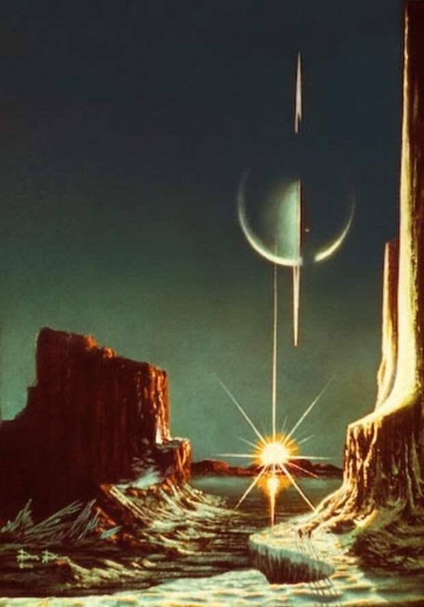 Моря на Титане вселенная, дизайн, картина, космос, первые в мире, фото, художник