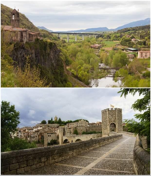 Старинный мост – единственная дорога, которая ведет в город (Castellfollit de la Roca, Испания). | Фото: transfer-gidbarcelona.ru.