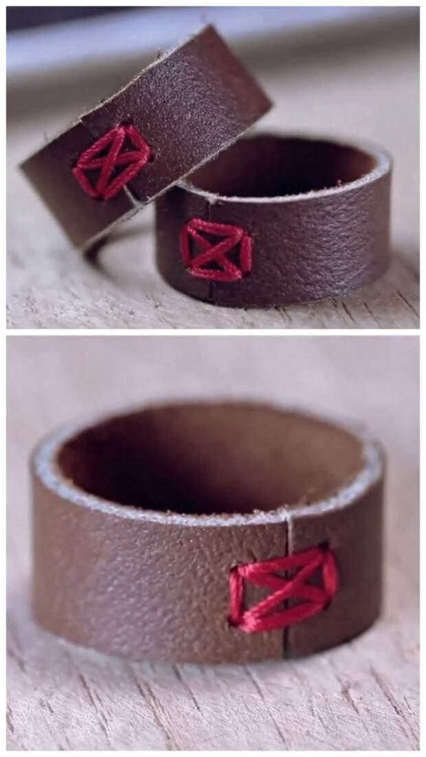 Как сделать кольцо из кожи (Diy)