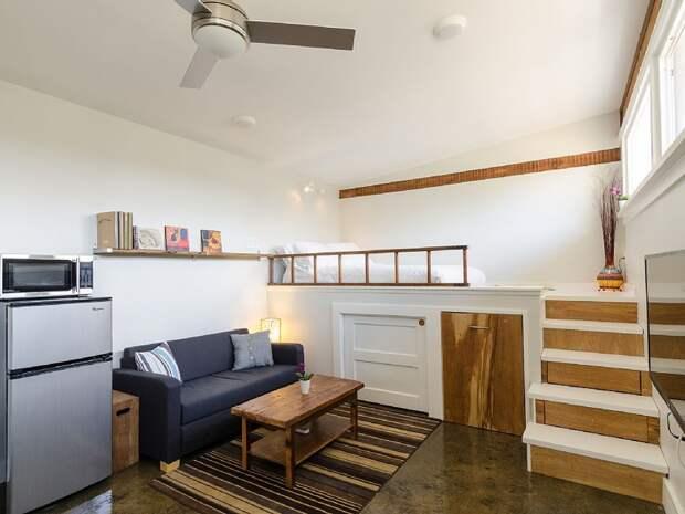 Уютный домик из старого гаража гараж, дизайн, домик, своими руками