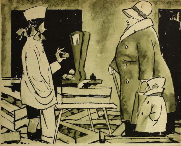 Жизнь советских людей в карикатурах Леонида Сойфертиса