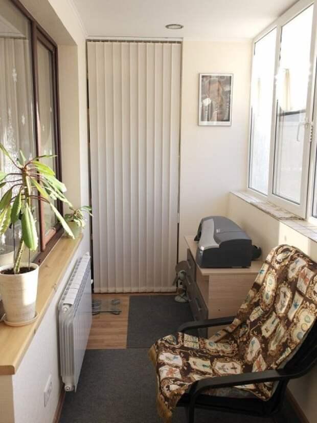 Ремонт на лоджии - делаем маленький кабинет