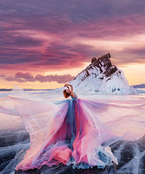 Природная красота Байкала на фотографиях Кристины превращается в сказку.