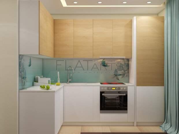 Дизайн-проект двухкомнатной квартиры, кухня в нише