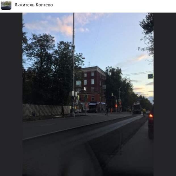 Замена асфальта на Космодемьянских продлится до середины сентября