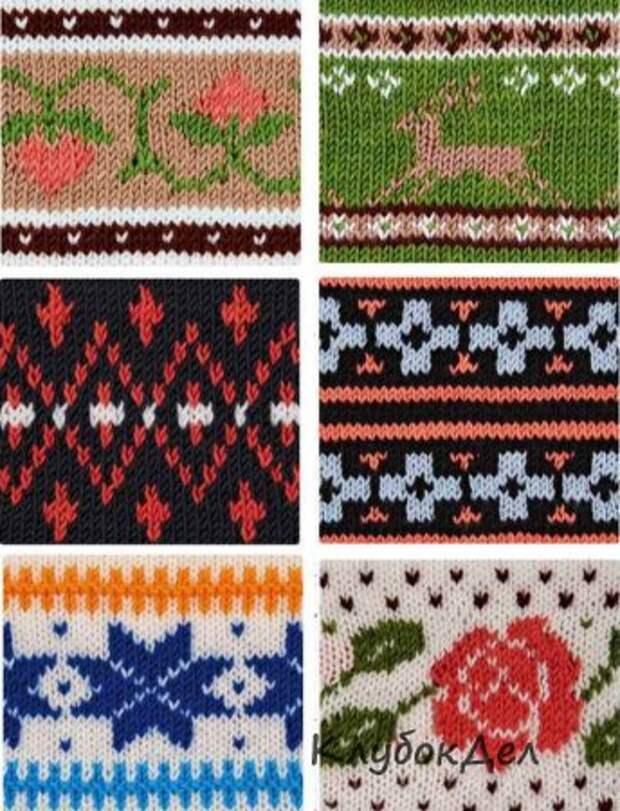 Жаккардовые узоры спицами. 18 образцов для вязания