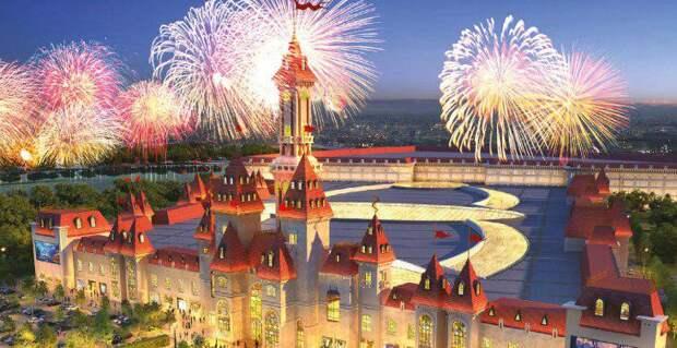Собянин лично оценил ход строительства парка развлечений «Остров мечты». Фото: mos.ru