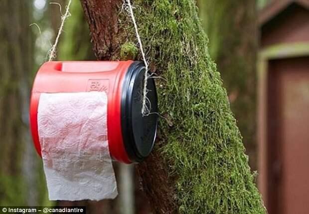 Как сделать из пластикового контейнера держатель для туалетной бумаги кемпинг, отдых на природе, советы, туризм, хитрости