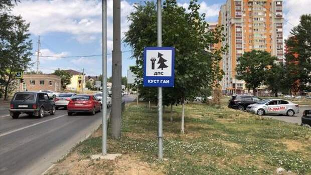 ЛДПР установила знак «Куст ГАИ». Гаишники его демонтировали