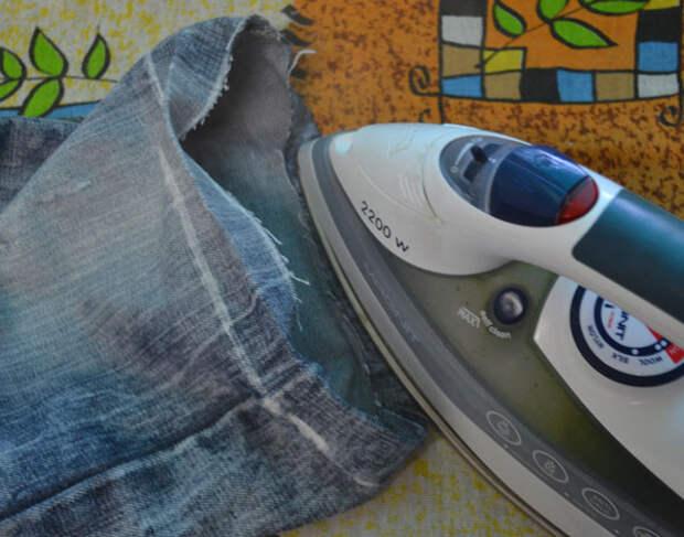 Заутюжка подгибки джинсов