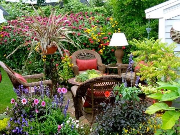 Современный ландшафт сада