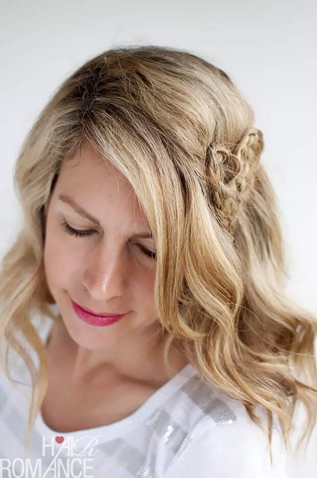 Сердечко на волосах (Diy)