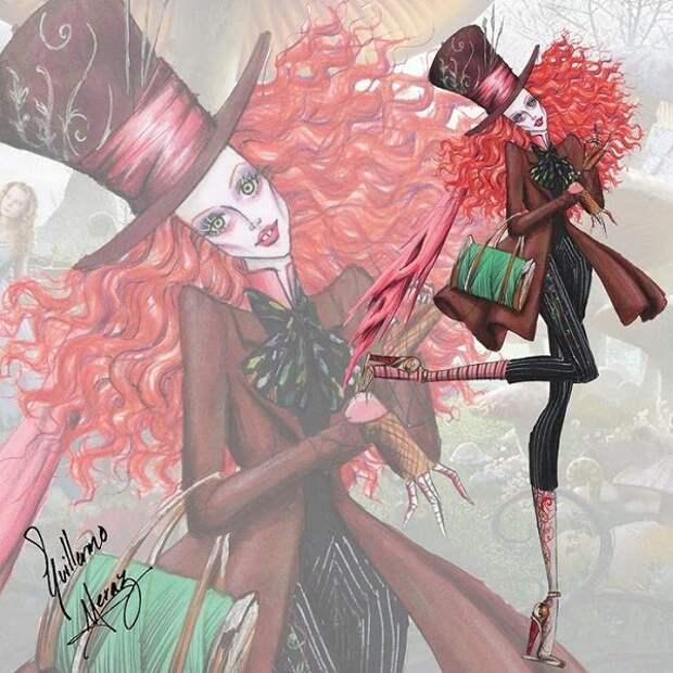 Иллюстрации, вдохновленные героями фильмов Тима Бертона