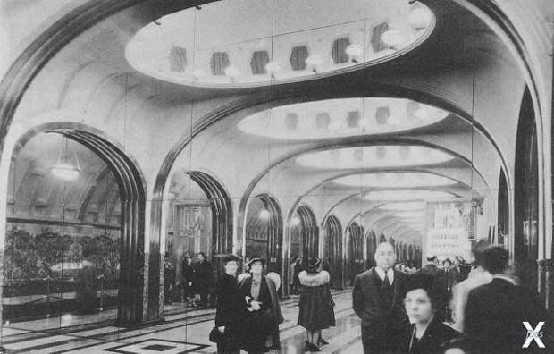 Отсек станции «Маяковская» на выставке