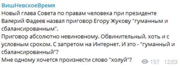 Отсутствие драматичного приговора Жукову расстроило оппозиционеров