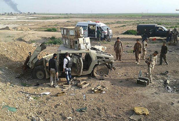 Захваченная боевиками техника иракской армии