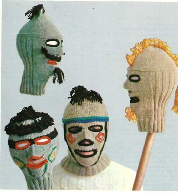 Вязаные шапки из 90-х