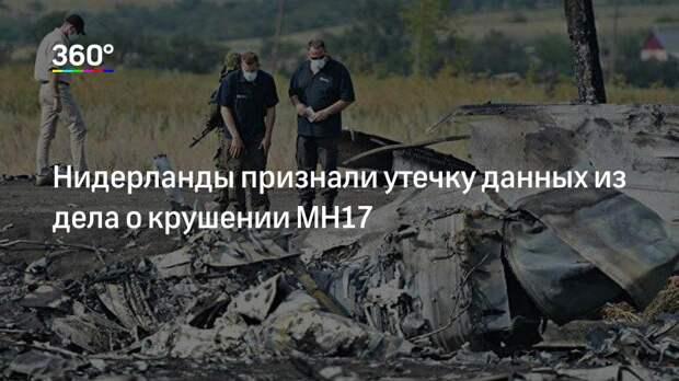 Нидерланды признали утечку данных из дела о крушении MH17