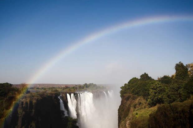 rainbow02 Радуга над самым большим водопадом в мире