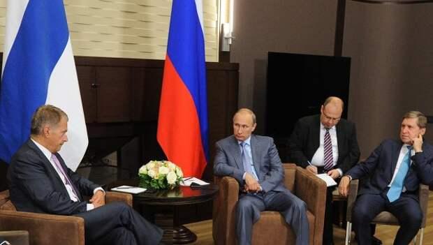 В.Путин встретился с С.Ниинисте. Архивное фото