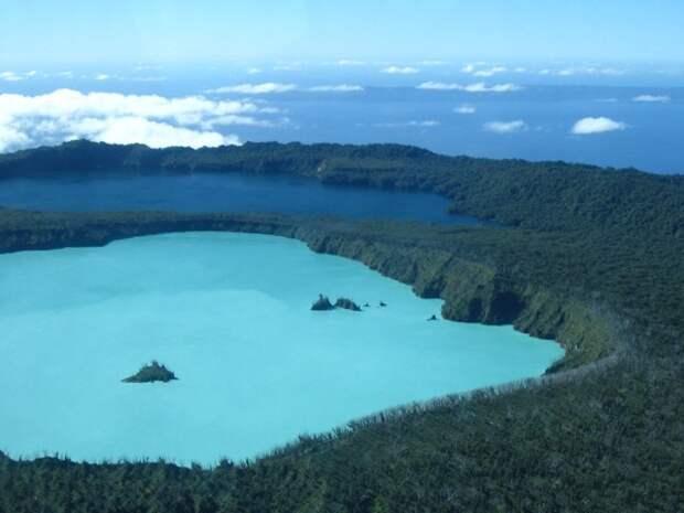 23. Остров Оба, Вануату в мире, озеро, природа
