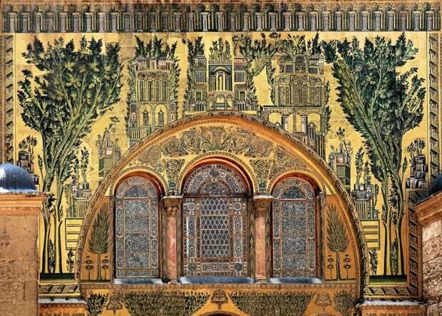 Мозаика мечети Омейядов в Дамаске, VIII в. н.э.