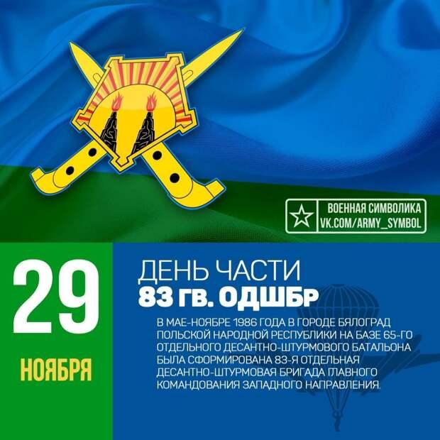 День части в 83-й отдельной десантно-штурмовой бригаде!