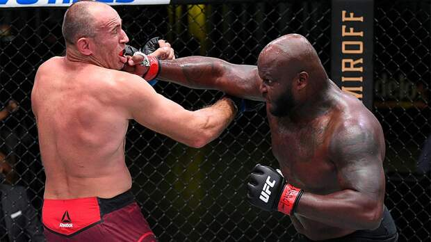 Русский тяж Олейник вышел драться в 43 года. На UFC в Вегасе его вырубил американец по прозвищу Черный Зверь