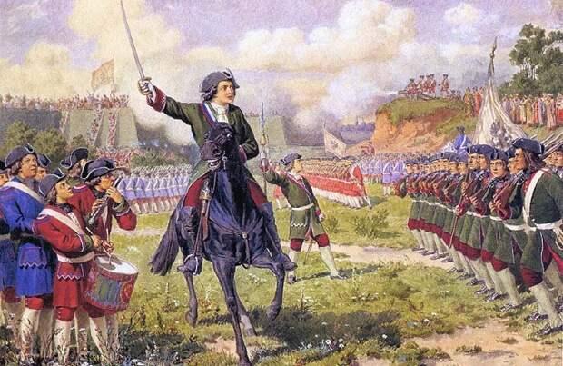 Молодой царь Петр со своими «потешными полками» / Фото: britannica.com