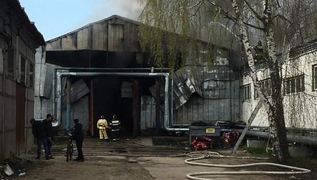 Открытое горение потушили на складе подсолнечного масла в Подольске
