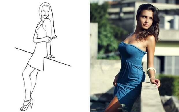 Самые удачные позы для женской фотосессии (для селфи тоже годится)