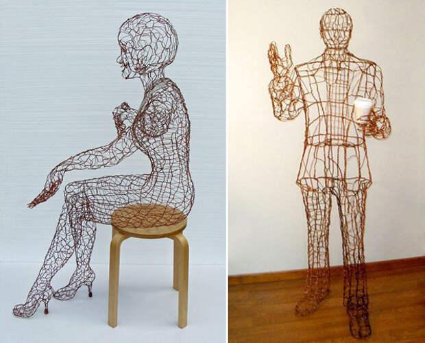 Проволочные скульптуры от Рут Дженсен (20 фото)