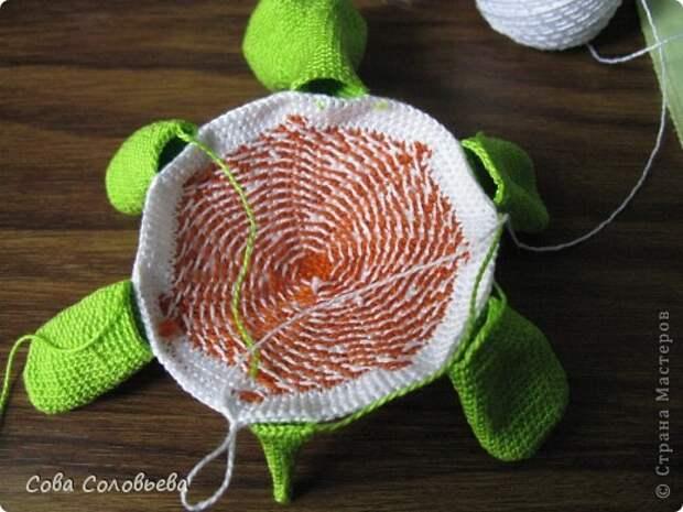 Игрушка Мастер-класс Вязание крючком изготовление Черепашки Пряжа фото 15