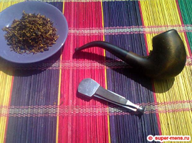 фото: трубка, пестик, табак
