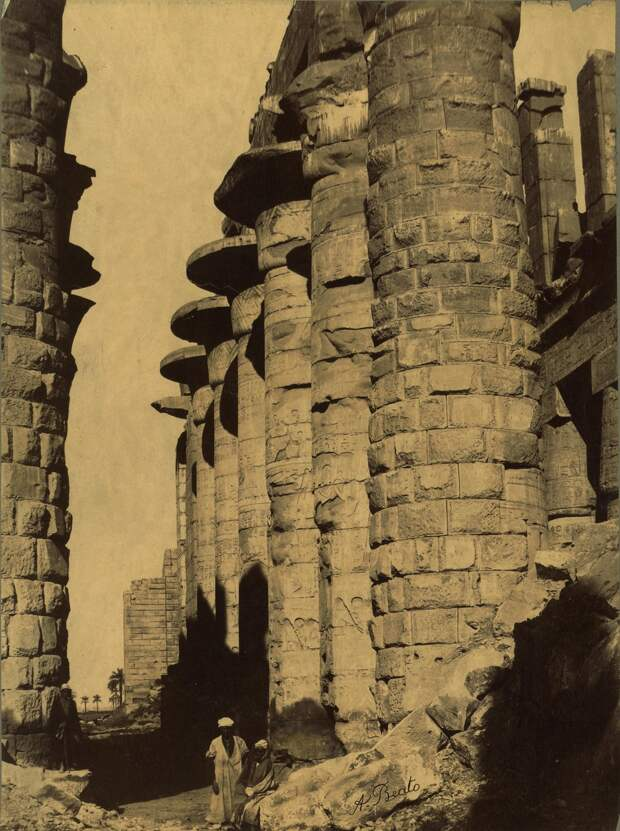 Карнак. Колонны. 1870