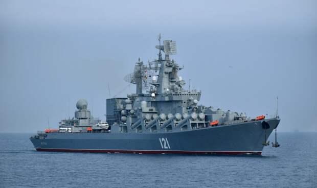 Российский крейсер «Москва» пресек провокационные действия украинских кораблей вблизи Крыма