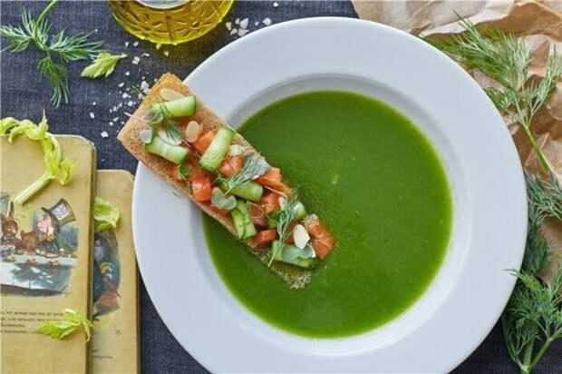 Холодный огуречный суп. \ Фото: google.com.