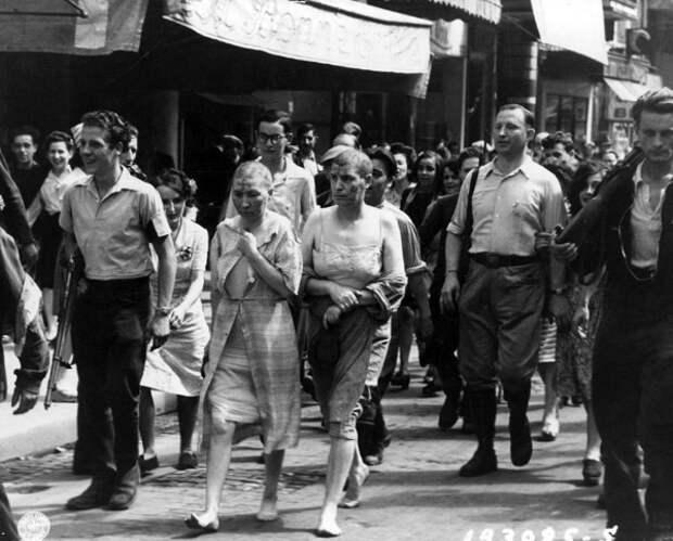 С народом шутки плохи! Как наказывали женщин, имевших отношения с нацистами