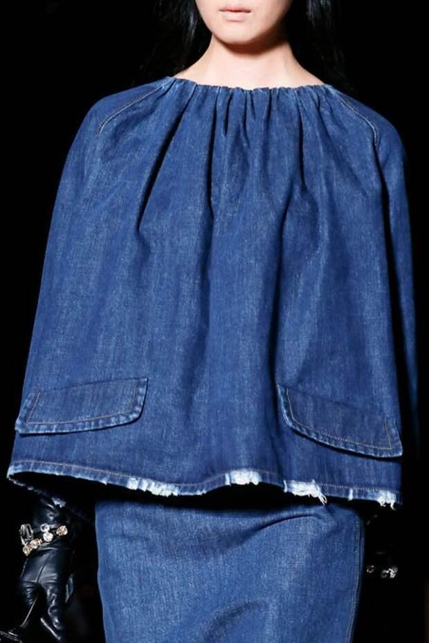 Много верхней одежды из джинса  (трафик)