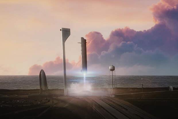 Транспортная система BFR (Big Falcon Rocket) компании SpaceX
