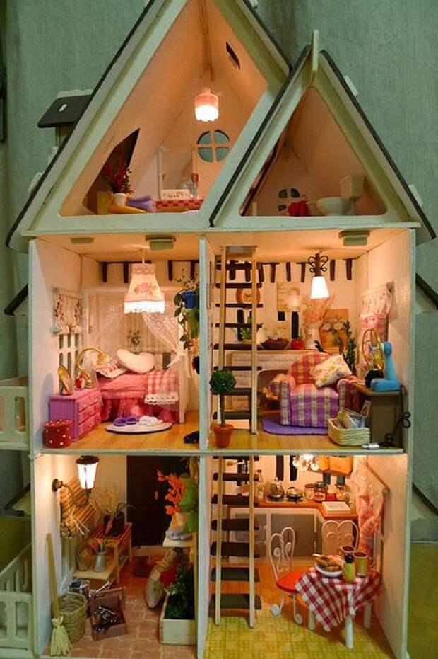 first diy dollhouse