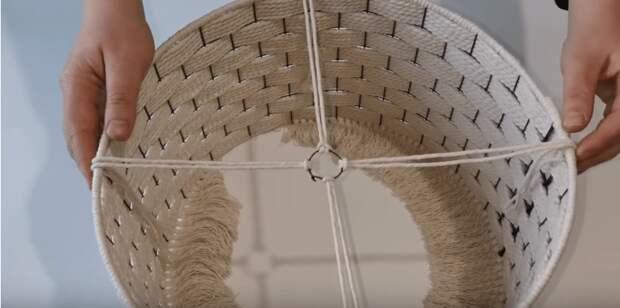 Теплый и аутентичный декор интерьера из сетки и любой нити