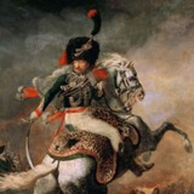 Офицер конных егерей во время атаки