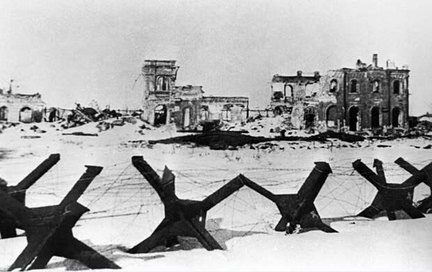 ID: 10632281 Описание: Советский Союз. Воронеж. Вид на разрушенный в ходе боев город, 1944 год. Фотохроника ТАСС