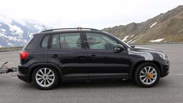 Новый VW Tiguan замечен в Альпах