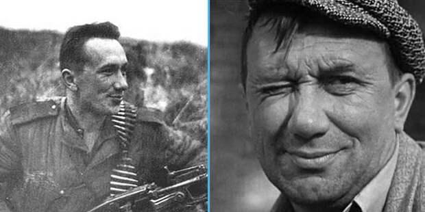 Слева: Алексей Смирнов с трофейным немецким пулемётом. Фото в свободном доступе.