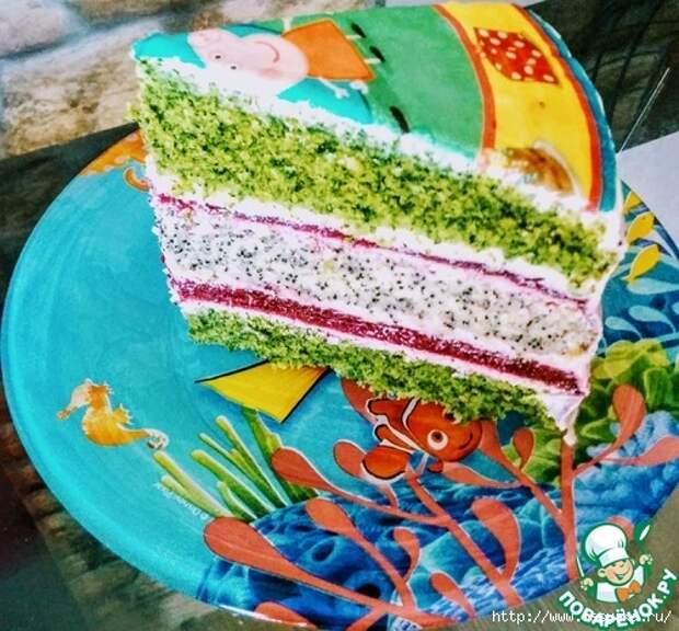 """Изысканный торт """"Ягодная поляна в лесу""""!"""