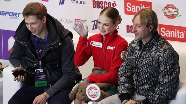 Плющенко — Трусовой: «Очень красиво и эмоционально каталась, просто великолепно. Какой взгляд, фантастика»