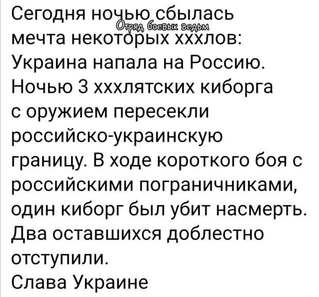 Опыт российских спецслужб не оставляет террористам-бандеровцам ни единого шанса// Перестрелка на границе Украины и России: Как развиваются события