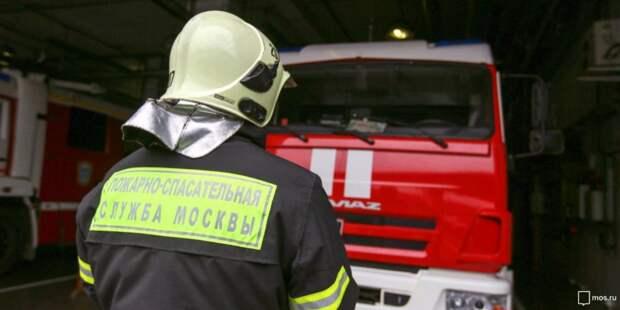 На улице Соловьиная Роща произошел пожар